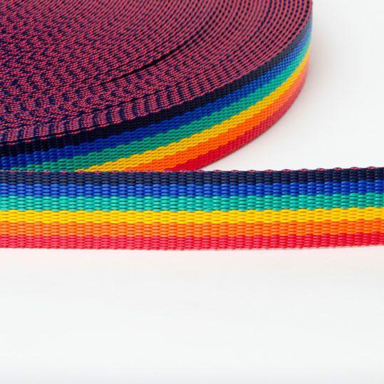 Rainbow Pride Woven Bag Strapping Haberdashery Per Metre