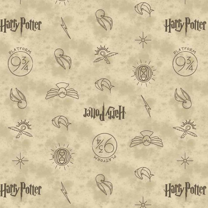 official HARRY POTTER licensed fabric  100/% COTTON QUILTING crafts dressmaking