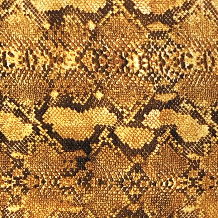 Crepe Georgette Fabric Snake Skin Gold