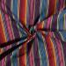 Aztec Jacquard Stripe Fabric   Textured Rainbow