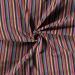Aztec Jacquard Stripe Fabric   Check Rainbow