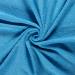 Terry Towelling Fabric   Mid Aqua
