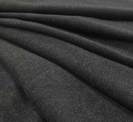Wool Blend Fabric | Charcoal Plain