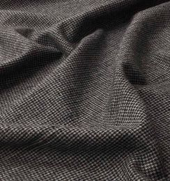 Wool Blend Fabric | Grey Mini Houndstooth