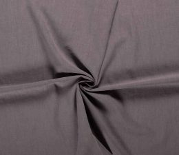 Bio Washed Linen Touch Fabric | Dark Taupe