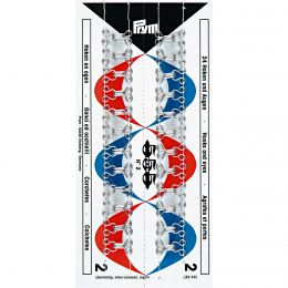 Hooks & Eyes, Steel Size 2, Silver, 24pcs Stitched Card | Prym