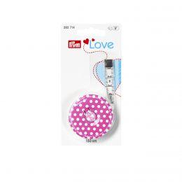 Retractable Measure   Polka Pink 150cm   Prym Love