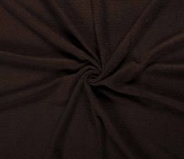 Terry Towelling Fabric | Dark Brown