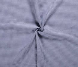 Cotton Waffle Fabric | Airforce Blue