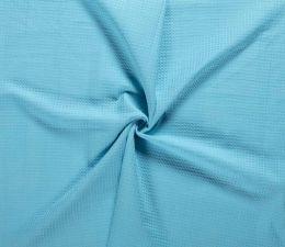 Cotton Waffle Fabric   Aqua / Turquoise