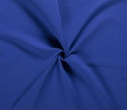 Cotton Waffle Fabric | Cobalt