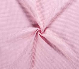 Cotton Waffle Fabric | Pink