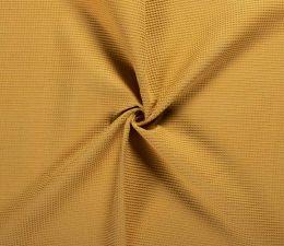Cotton Waffle Fabric | Rich Ochre