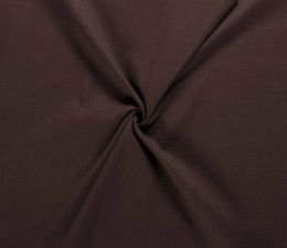 Cotton Waffle Fabric | Dark Brown