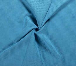 Cotton Waffle Fabric | Aqua Blue