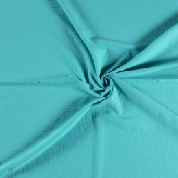 Double Gauze Fabric | Plain Aqua