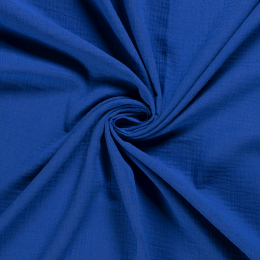 Double Gauze Fabric | Plain Cobalt