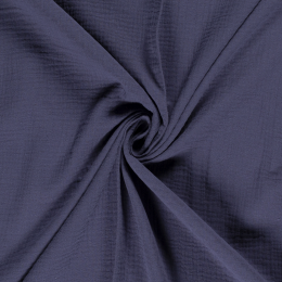 Double Gauze Fabric | Plain Steel Blue
