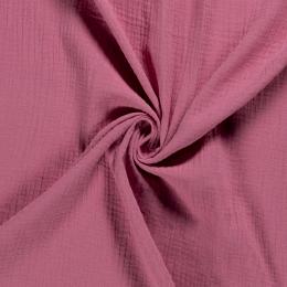 Double Gauze Fabric | Plain Dark Pink