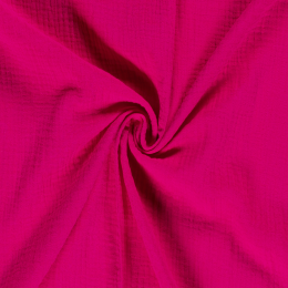 Double Gauze Fabric | Plain Fuschia