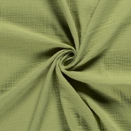 Double Gauze Fabric | Plain Lime Green