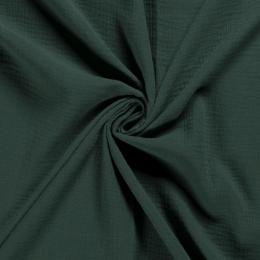 Double Gauze Fabric | Plain Dark Green