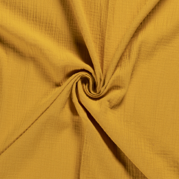 Double Gauze Fabric | Plain Ochre