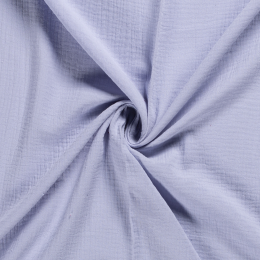 Double Gauze Fabric | Plain Light Lilac