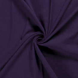 Double Gauze Fabric | Plain Light Purple