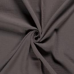 Double Gauze Fabric | Plain Taupe