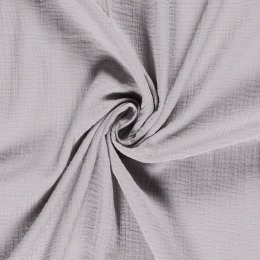 Double Gauze Fabric | Plain Light Grey