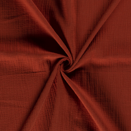 Double Gauze Fabric | Plain Brown
