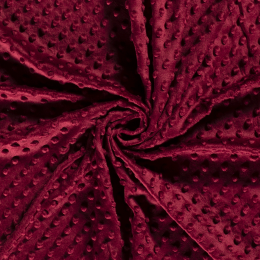 Premium Dimple Fleece | Bordeaux