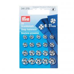6-11mm Silver Metal, Snap Fasteners   Prym