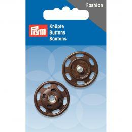 Snap Fastener, 25mm Brown | Prym