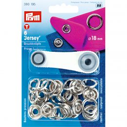 18mm Silver, Jersey Ring Press Fasteners & Tool | Prym