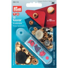 15mm Gold | Anorak Press Fasteners & Tool | Prym