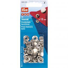 Press Fastener - Refill | Anorak | 12mm Silver - for 390330