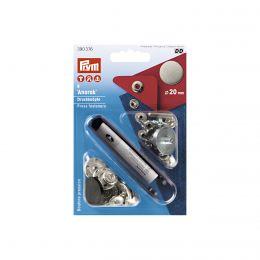 20mm Anorak Press Fastener & Tool | Design Flat Steel | Prym