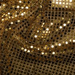 Sequin Fabric 6mm | Gold/Black