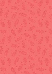 Thalassophile Lewis & Irene Fabric | Seahorses Coral