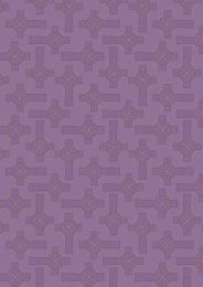 Iona Fabric | Celtic Cross Purple - Copper Metallic