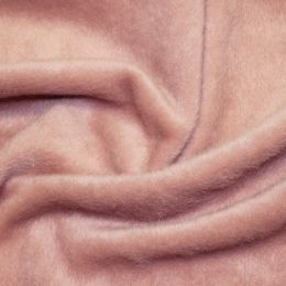 Mohair Touch Coating Fabric | Rose