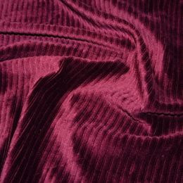Jumbo Corduroy Knit Stretch | Burgundy