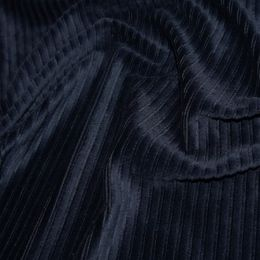 Jumbo Corduroy Knit Stretch | Navy