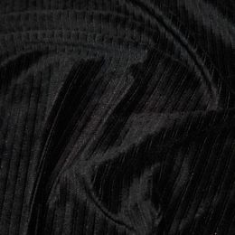 Jumbo Corduroy Knit Stretch | Black