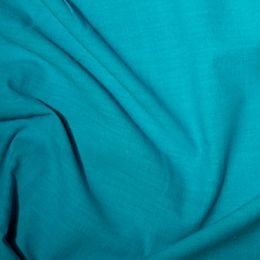 Linen Look Cotton fabric Turquoise