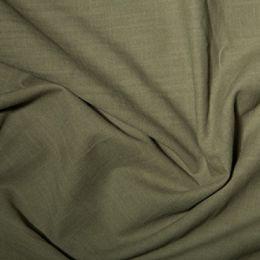 Linen Look Cotton Fabric | Khaki