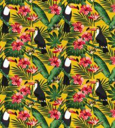 Cotton Print Fabric | Toucan Yellow