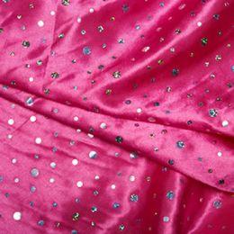 Satin Fabric Sequins | Cerise